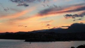 Mediterranean sunset stock video footage