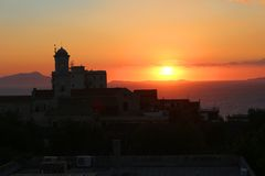Mediterranean sunset Stock Photos