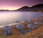 Mediterranean Sunset at Pefkos Royalty Free Stock Image