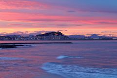 Mediterranean sunset on sea Denia Royalty Free Stock Photo