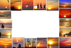 Mediterranean sunsets Stock Image