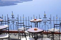 Mediterranean terrace stock photos