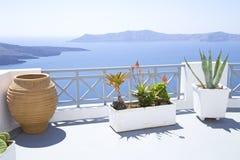 Mediterranean terrace stock image