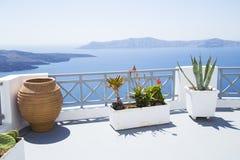 Mediterranean terrace stock images