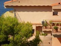 Mediterranean terracotta house royalty free stock photography