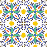 Mediterranean tile. Seamless vector texture of mediterranean tile Stock Photo