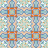 Mediterranean tile. Vector illustration of mediterranean sicilian tile Stock Photo