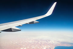 From the Mediterranean to Africa. View from the airplane window Royalty Free Stock Images