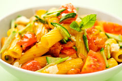 Mediterranean tortiglioni pasta Stock Images