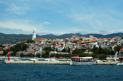 Mediterranean town. Charming town of Novi Vinodolski - located on croatian north Adriatic coast Stock Images
