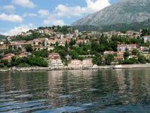 Mediterranean town. Mediterranean resort town. Herceg Novi, Montenegro royalty free stock photo