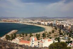 Mediterranean town Aguilas. Murcia, Spain. Beautiful beaches in Mediterranean town Aguilas. Province of Murcia, Spain Stock Images