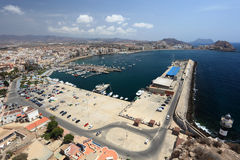 Mediterranean town Aguilas, Spain Stock Photography