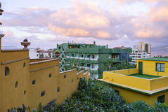 Mediterranean town. Mediterranean architecture -  town - tenerife - canary island Stock Images