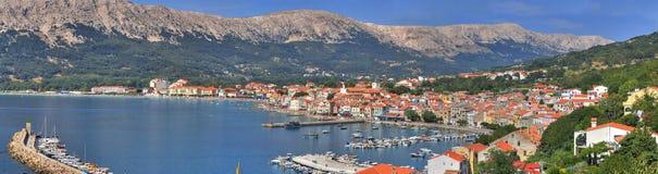 Mediterranean Town of Baska Royalty Free Stock Photo