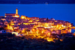 Mediterranean town of Betina evening view Stock Photography