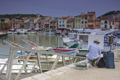 Mediterranean town of Cassis, France Royalty Free Stock Photos