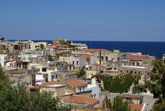 Mediterranean town, Chania, Crete. View from the Arsenal on mediterranean town, Chania, Crete, Greece stock image