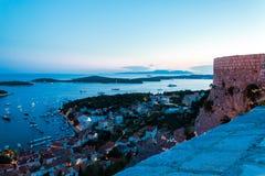 Mediterranean town Hvar at night Royalty Free Stock Images