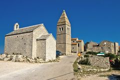 Mediterranean town of Lubenice, Island of Cres royalty free stock photos
