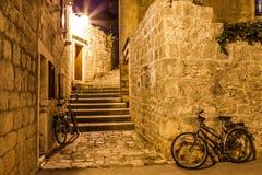 Mediterranean town at night Stock Photos