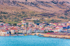 Mediterranean town Pag in Croatia. royalty free stock images