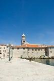 Mediterranean town scene, Croatia Stock Photography