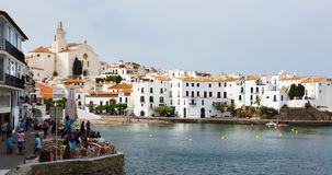 Mediterranean town from seaside. Cadaques Royalty Free Stock Photo