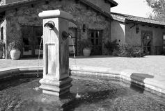 Mediterranean town square fountain Royalty Free Stock Images