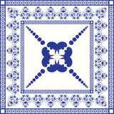 Mediterranean traditional blue and white tile Royalty Free Stock Photos