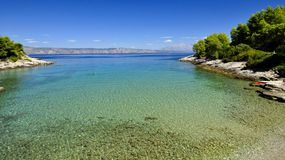 Mediterranean turquoise lagoon. On Hvar island Croatia Stock Photo