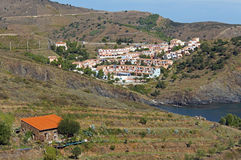 Mediterranean vacation village in France Stock Images