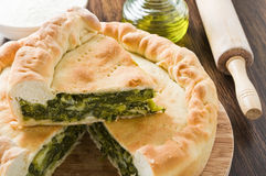 Mediterranean Vegetable Pie. Royalty Free Stock Image