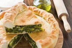 Mediterranean Vegetable Pie. Royalty Free Stock Image