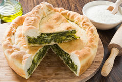 Mediterranean Vegetable Pie. Stock Photo