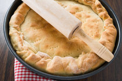 Mediterranean Vegetable Pie. Royalty Free Stock Photo