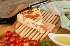 Mediterranean vegetable pie Stock Photography