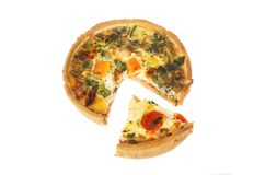 Mediterranean vegetable quiche Royalty Free Stock Image