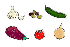 Mediterranean vegetables Royalty Free Stock Photo