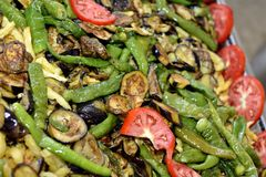 Mediterranean vegetables cooking Royalty Free Stock Photography