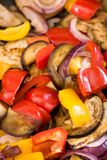 Mediterranean vegetables cooking in a pan Royalty Free Stock Photo