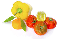 Mediterranean vegetables. Typical vegetables of the Mediterranean area Royalty Free Stock Photos