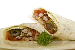 Mediterranean veggie wrap Royalty Free Stock Photography
