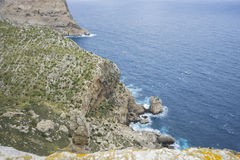 Mediterranean, views of Cape formentor in the tourist region of Stock Photo