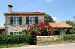 Mediterranean villa. Typical country house villa in Istria, Croatia Royalty Free Stock Photo