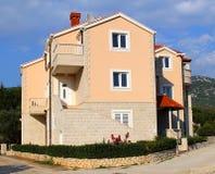 Mediterranean villa. Croatia. Amazing villa in Mediterranean architectural style in Croatia royalty free stock image