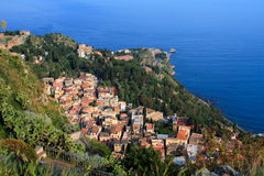 Mediterranean village. In sicily (italy) called Taormina Stock Photo