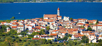 Mediterranean village Betina on the hill Stock Images