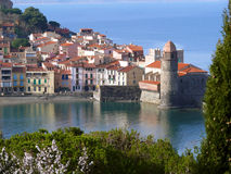 Mediterranean village of Collioure Stock Image