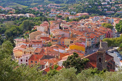 Mediterranean village of Collioure in Roussillon Royalty Free Stock Photography